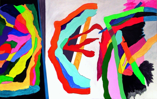 Acrílico sobre tabla 88 x 140 cm 2010