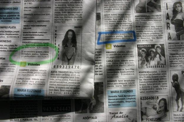 anuncio del periódico