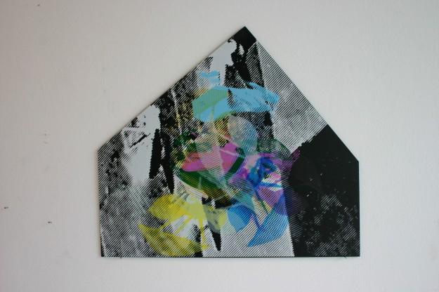 Screen Printing on PVC 50 x 45 cm 2013