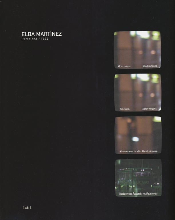 """No un sitio. Sino el sitio Video proyección, 8´ 30´´ (Textos extraídos del libro """"Rumbo a Peor"""" de Samuel Beckett) Plaza Conde de Rodezno, 2003"""