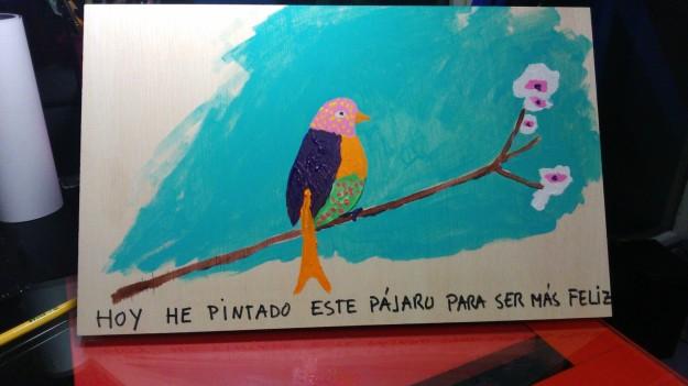 hoy he pintado este pájaro